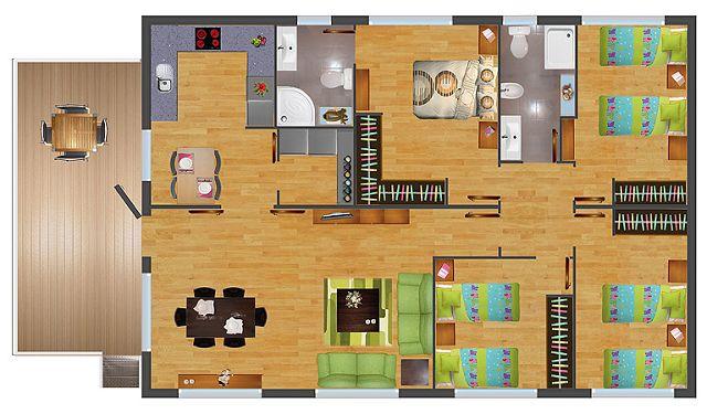 Planos gratis de casas prefabricadas for Tipos de casas para construir