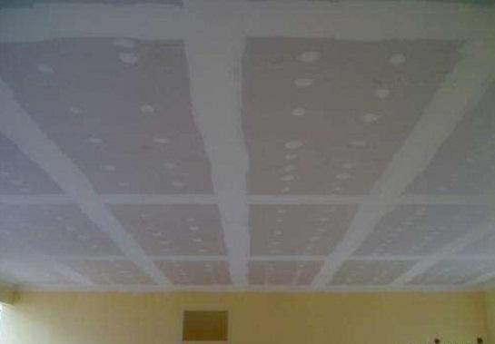 Techos internos de placas de yeso - Como colocar pladur en techo ...