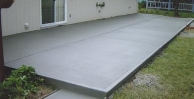 patio piso de concreto